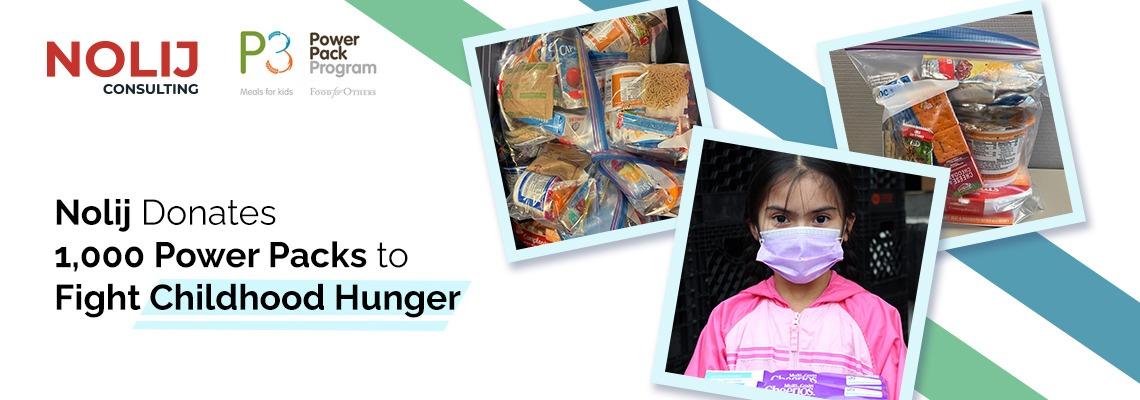 Nolij Donates 1,000 Power Packs to Fight Childhood Hunger